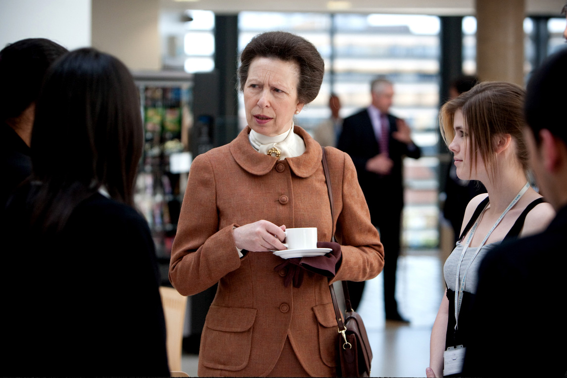 Princess Anne visit to Leicester College